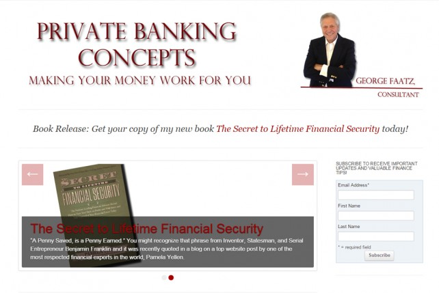 Private Banking Concepts website